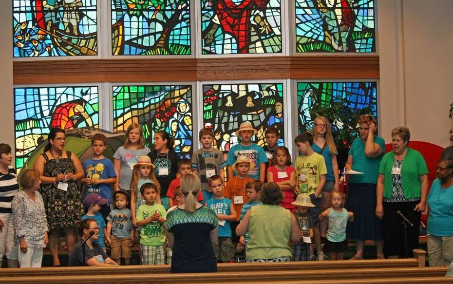 Children singing VBS