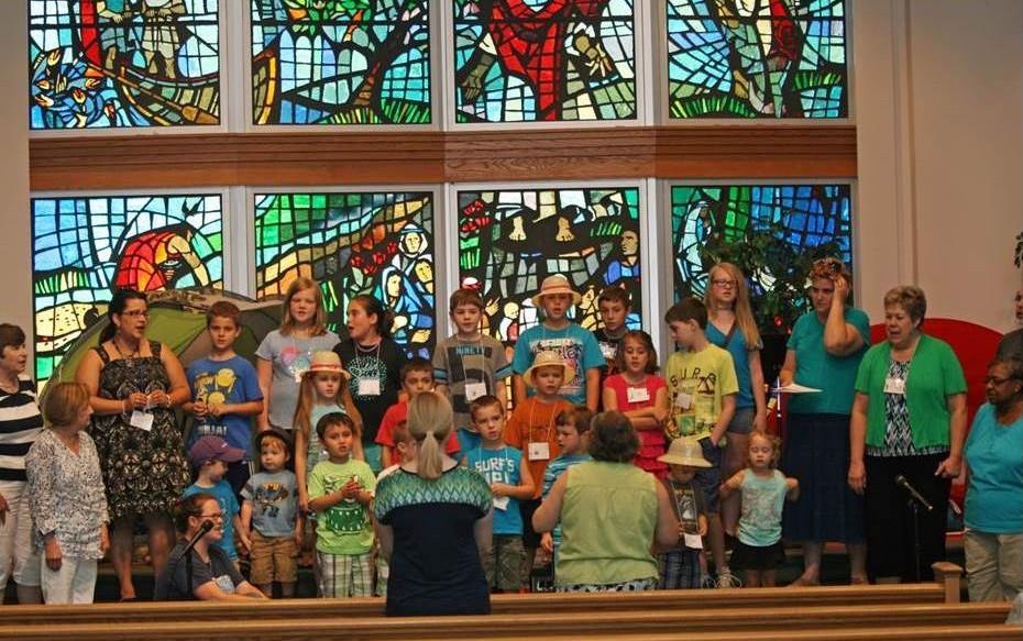 Children singing VBS
